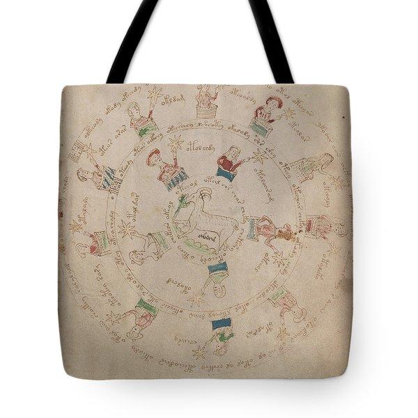 Voynich Manuscript Astro Aries Tote Bag