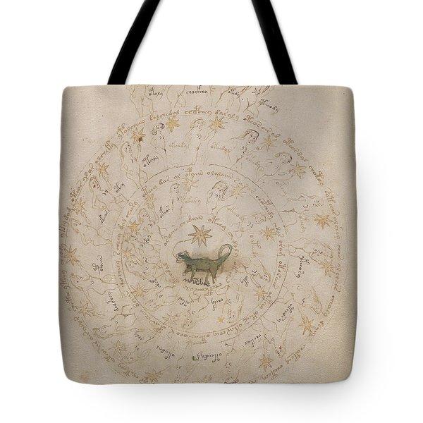 Voynich Manuscript Astro Scorpio Tote Bag