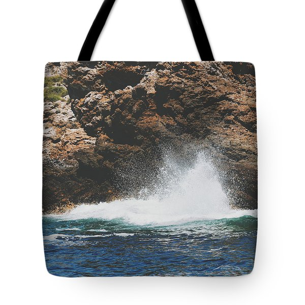 Tote Bag featuring the photograph Vscosplash by Nikki McInnes