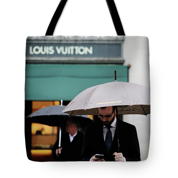 Tote Bag featuring the photograph Vuitton by Empty Wall
