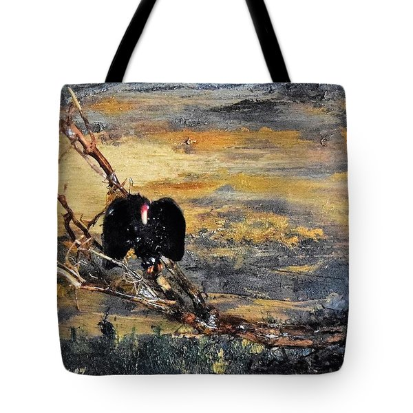 Vulture With Oncoming Storm Tote Bag