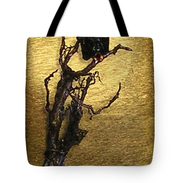 Vulture With Textured Sun Tote Bag
