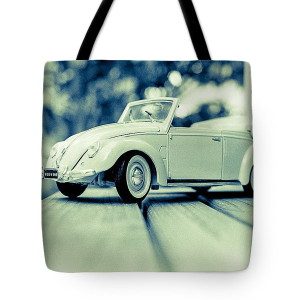 Vw Beetle Convertible Tote Bag by Jon Woodhams