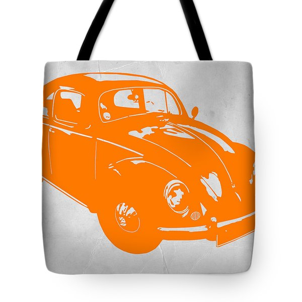 Vw Beetle Orange Tote Bag by Naxart Studio