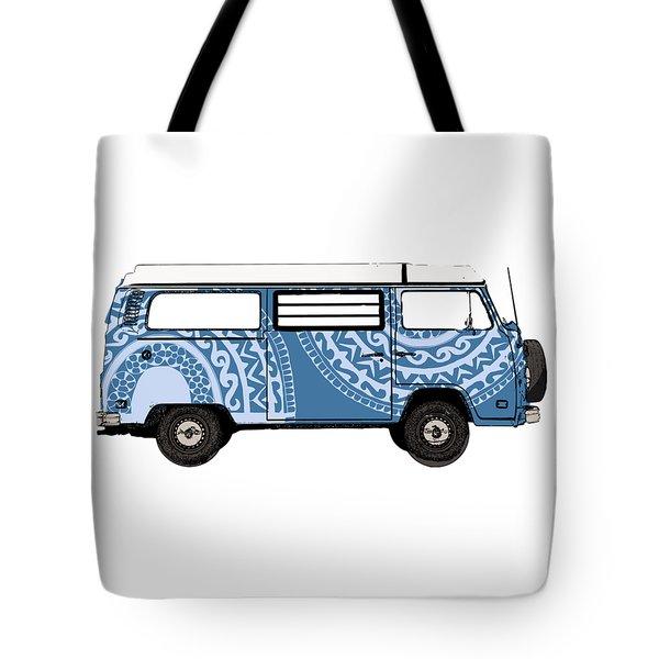 Vw Blue Van Tote Bag