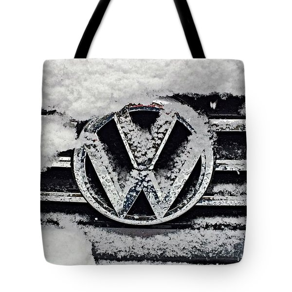 Vw Snow Day Tote Bag