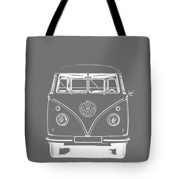 Vw Van Graphic Artwork Tee White Tote Bag