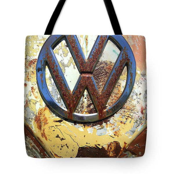 Vw Volkswagen Emblem With Rust Tote Bag