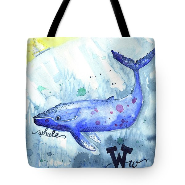 W Is For Whale Tote Bag