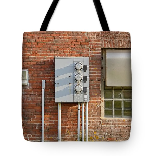 W Quoddy Head Power Station North Wall Tote Bag