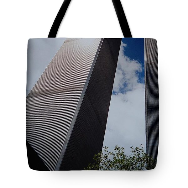 W T C 1 And 2 Tote Bag by Rob Hans