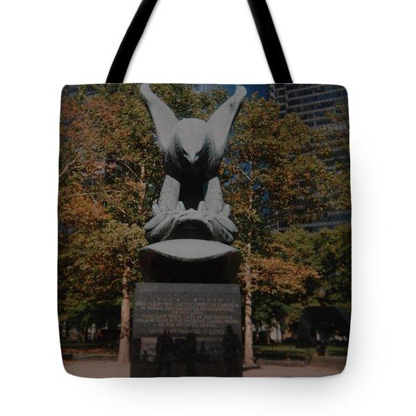 W W II Eagle Tote Bag by Rob Hans