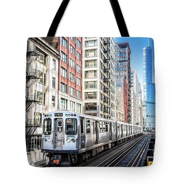 The Wabash L Train Tote Bag