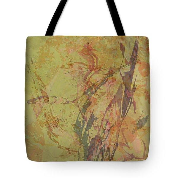 Wabi Sabi Ikebana Rose On Yellow Green Tote Bag
