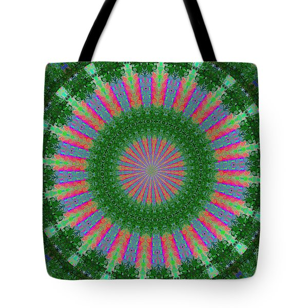 Wacky Kaleidoscope Three Tote Bag by Suzanne Handel