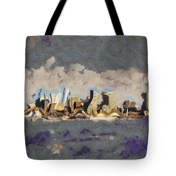 Wacky Philly Skyline Tote Bag by Trish Tritz