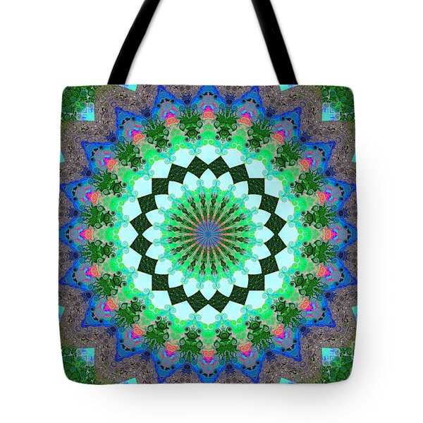 Wacy Kaleidoscope Two Tote Bag by Suzanne Handel