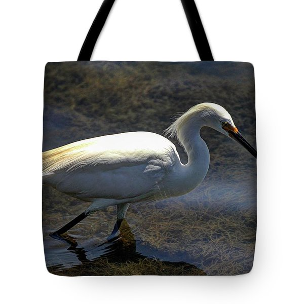 Wading And Watching Tote Bag