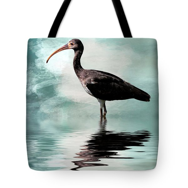 Wading Ibis Tote Bag by Cyndy Doty