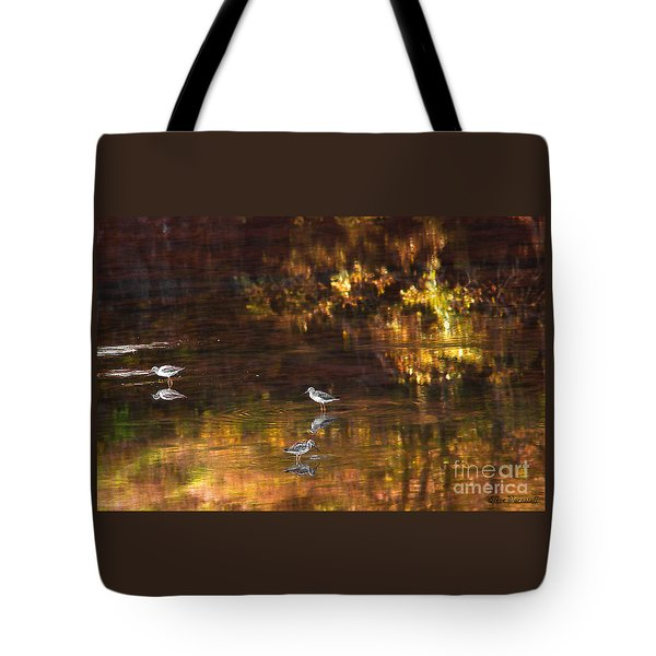 Wading In Light Tote Bag by Steve Warnstaff