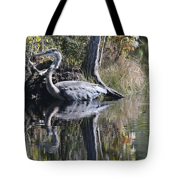 Wading In The Wetlands Tote Bag