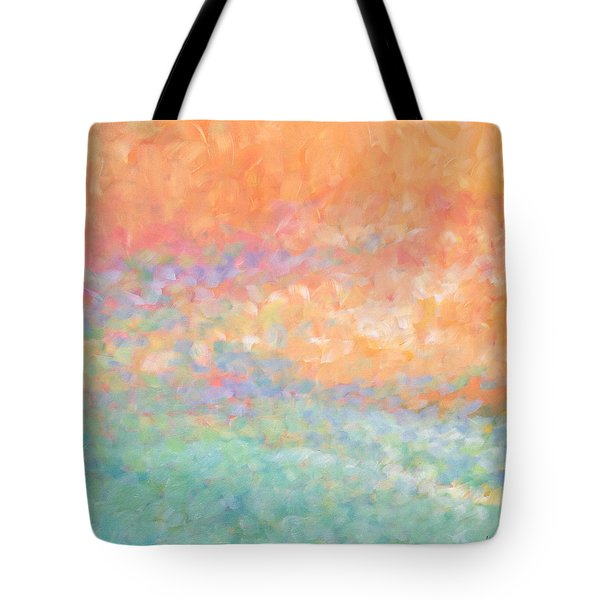 Tote Bag featuring the painting Wading Out Of The Water by Angela Treat Lyon