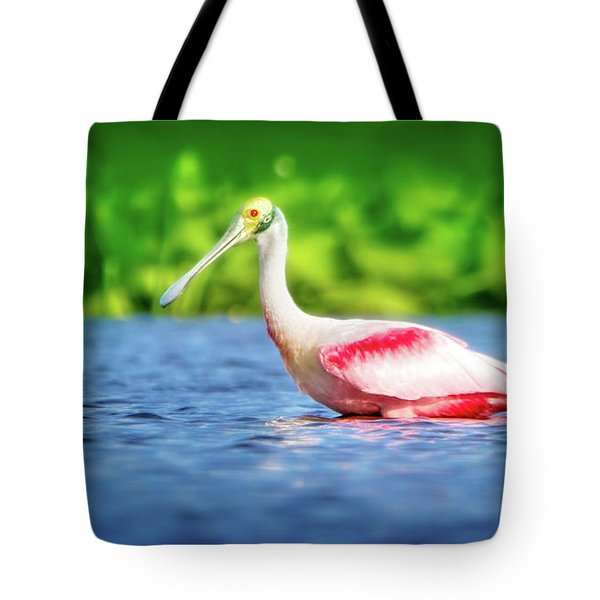Wading Spoonbill Tote Bag by Mark Andrew Thomas