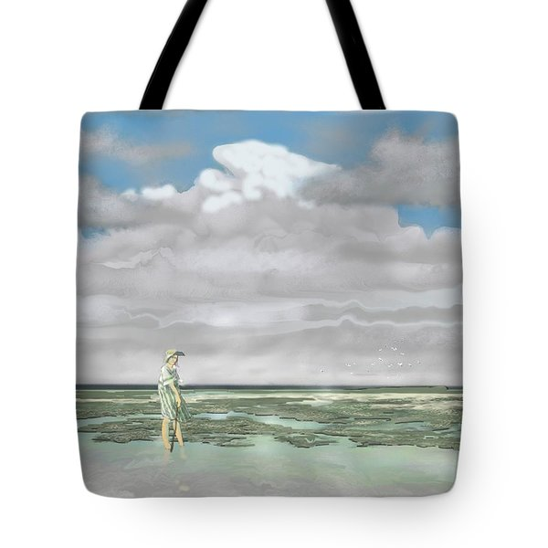 Wading The Salt Flats Tote Bag by Kerry Beverly
