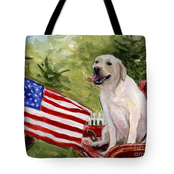Wag The Flag Tote Bag by Molly Poole