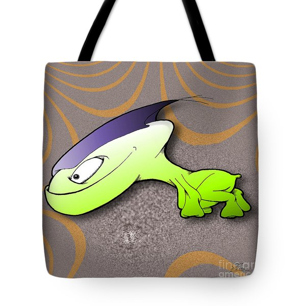 Tote Bag featuring the drawing Waggah by Uncle J's Monsters