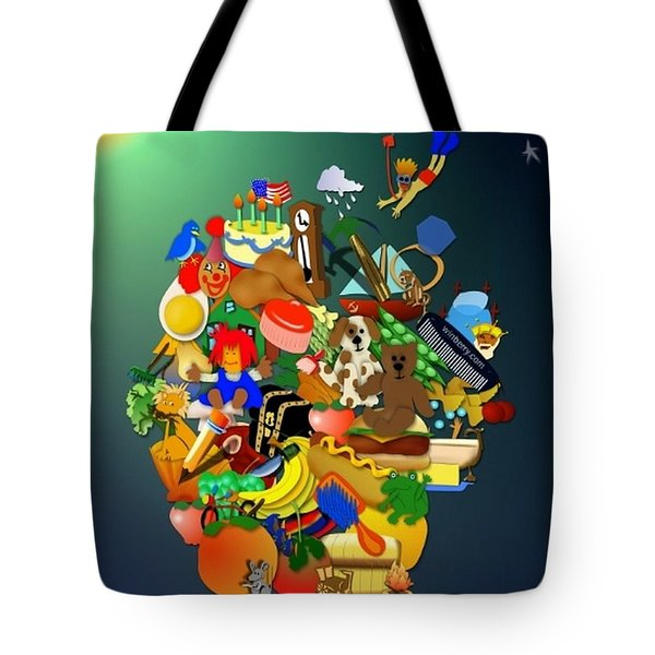 Wagon Of Toys Without White Frame Tote Bag