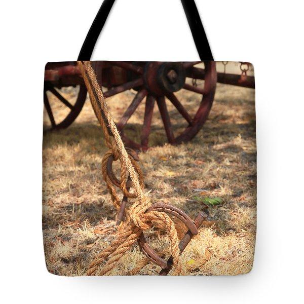 Wagon Stake Tote Bag by Toni Hopper