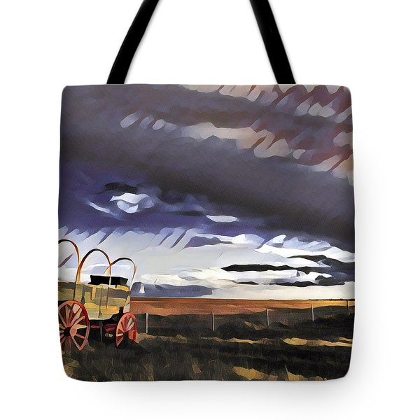 Wagon Train Tote Bag