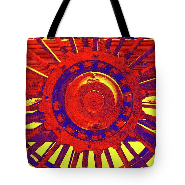 Tote Bag featuring the photograph Wagon Wheel by Cynthia Powell