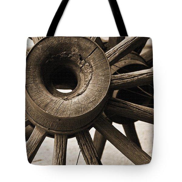 Wagon Wheel Hub Tote Bag