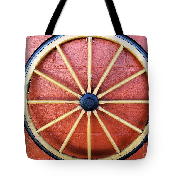 Wagon Wheel Tote Bag by John S