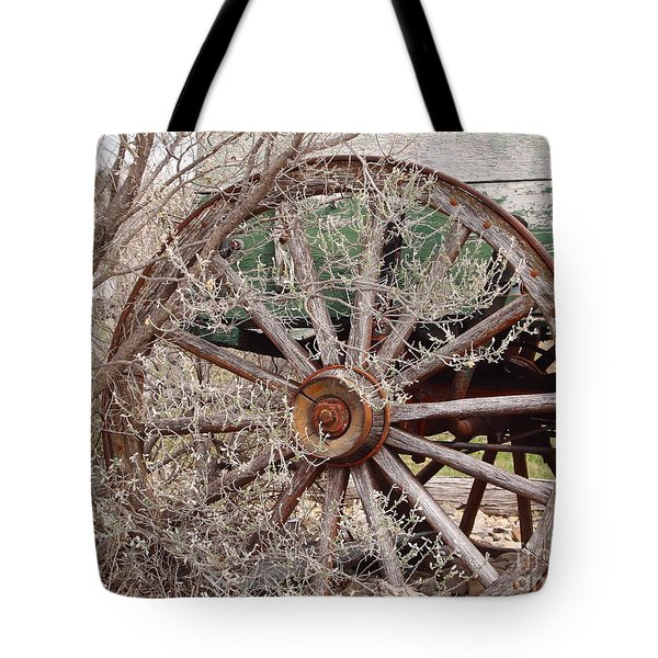 Wagon Wheel Tote Bag by Robert Frederick