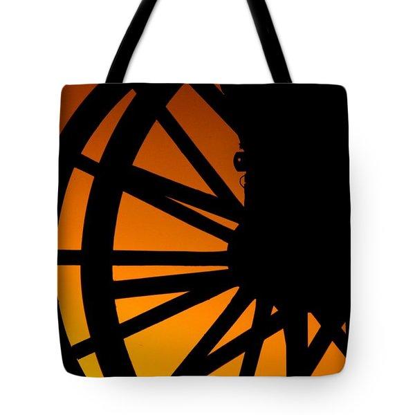 Wagon Wheel Sunset Tote Bag