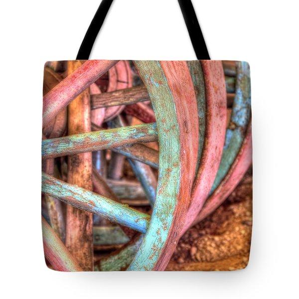 Wagon Wheels Tote Bag