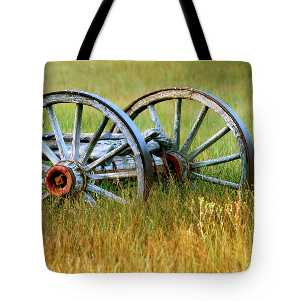 Wagon Wheels Tote Bag by Melanie Alexandra Price