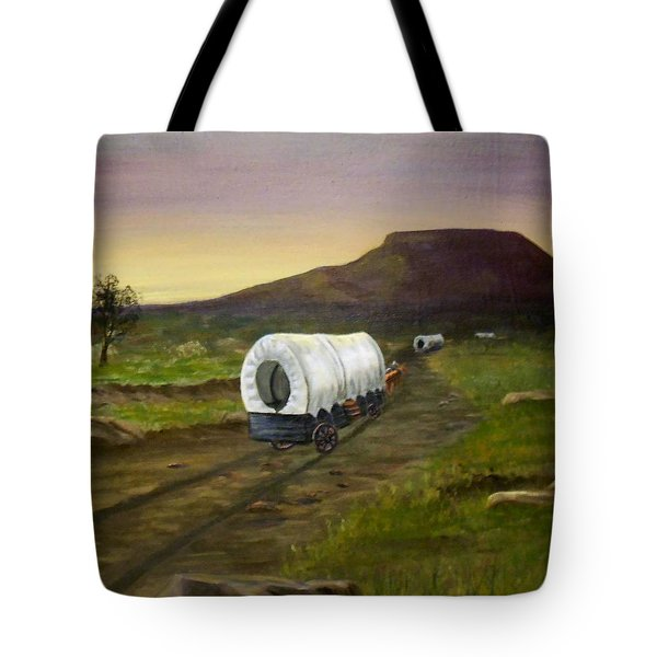 Wagons West Tote Bag by Sheri Keith