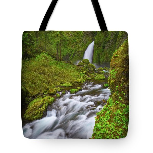 Tote Bag featuring the photograph Wahclella Falls by Darren White