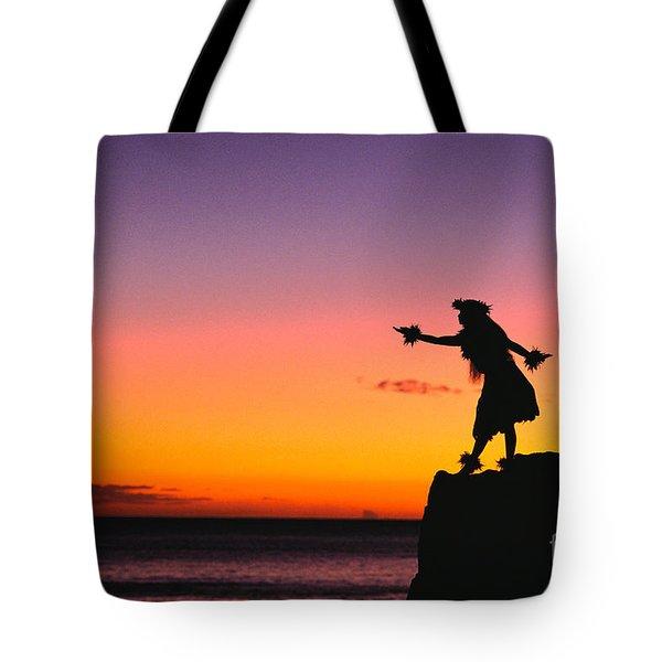 Wahine Hula Dancer Tote Bag