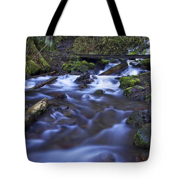 Wahkeena Creek Bridge # 5 Tote Bag
