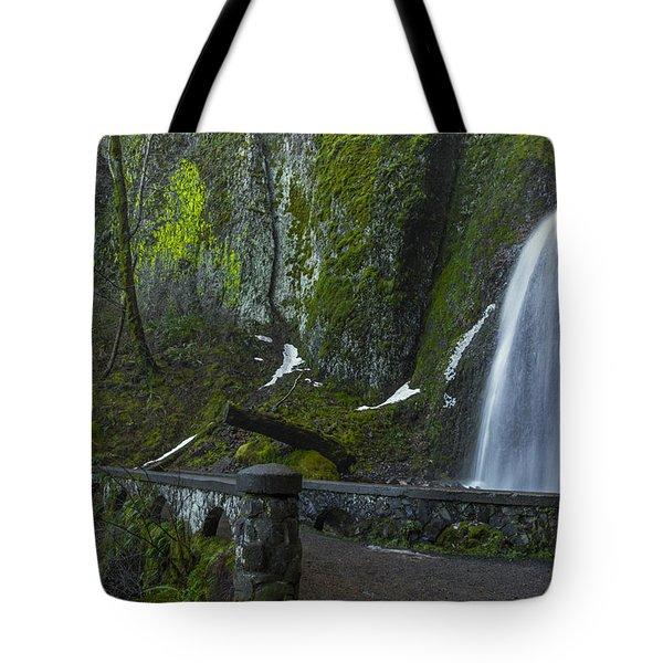 Wahkeena Falls Bridge Tote Bag
