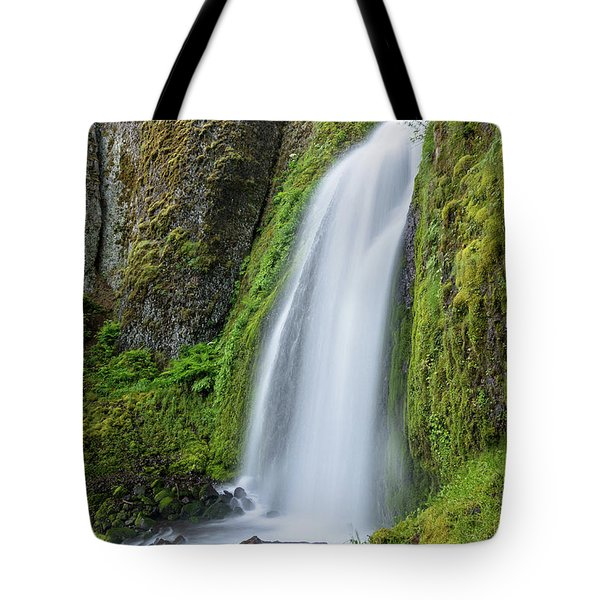 Tote Bag featuring the photograph Wahkeena Falls by Greg Nyquist