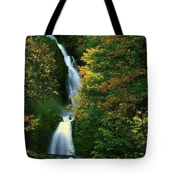 Wahkeena Falls Waterfall Tote Bag
