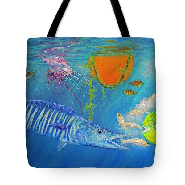 Wahoo Dolphin Painting Tote Bag