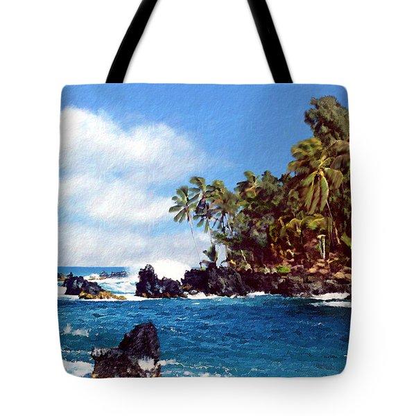 Waianapanapa Maui Hawaii Tote Bag by Kurt Van Wagner