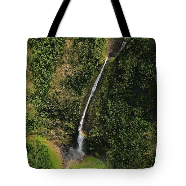 Wai'ilikahl Falls Rainbow Reflection Tote Bag